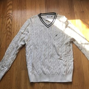 Men's Nautica cable knit sweater (NEW WITH TAGS)